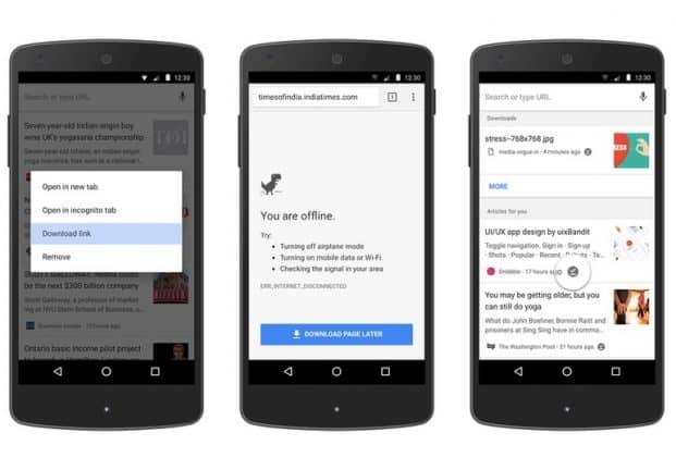 Offline opslaan webpagina's wordt makkelijker in Google Chrome for Android