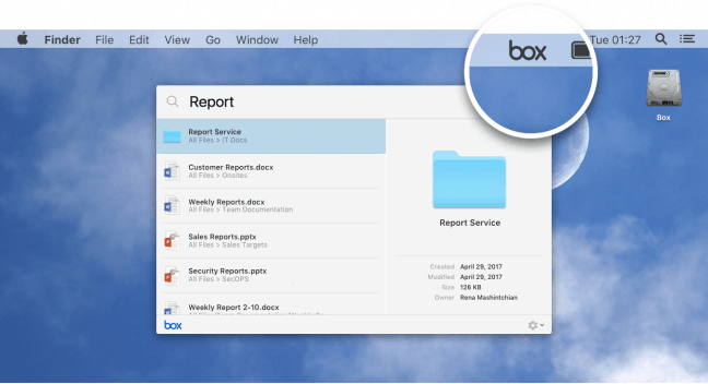 Box Drive biedt onbeperkte opslagruimte via lokale cloudschijf