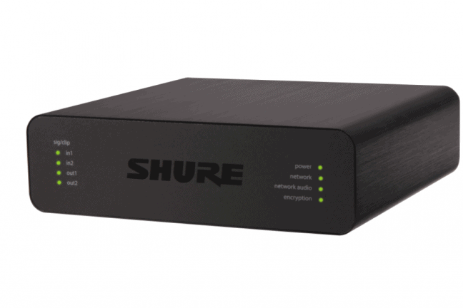 Twee nieuwe audionetwerkinterfaces van Shure vanaf vandaag verkrijgbaar