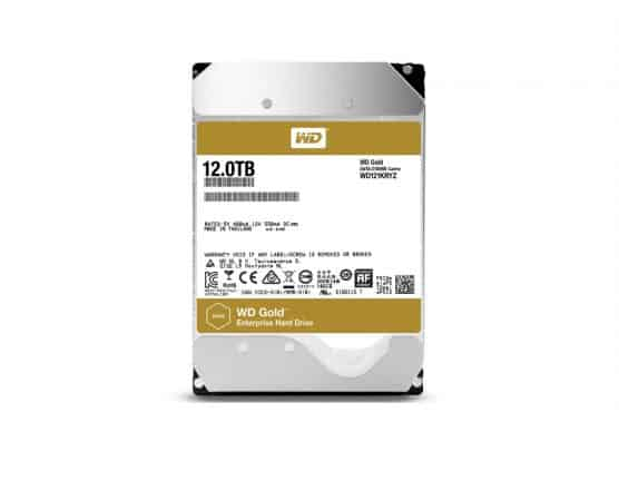 Western Digital onthult 12TB WD Gold harddrive